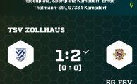 Kreispokal 2019/20: TSV Zollhaus - SG 1.